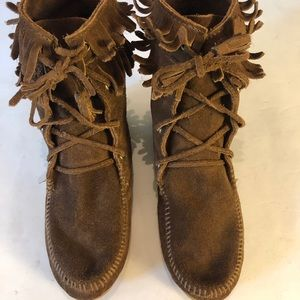 Minnetonka Ankle Moccasin - Boots